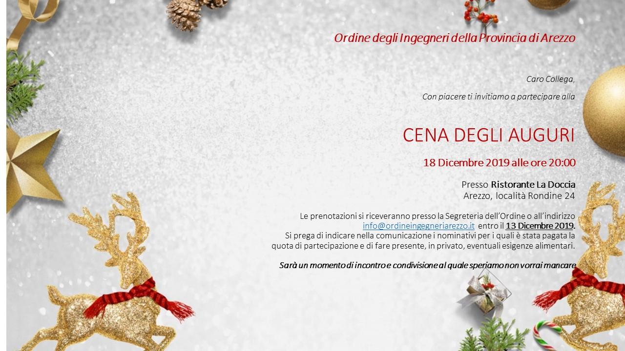 CENA DI NATALE 2019 - 18 dicembre 2019