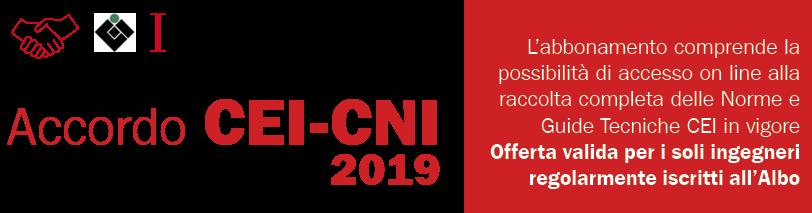 CNI - CEI  - anno 2019